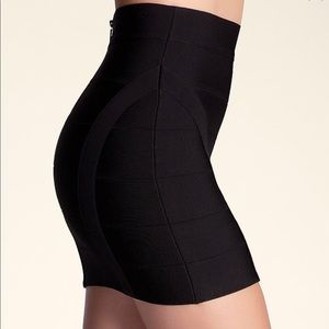 bebe Skirts - SEXY PRINCESS BANDAGE BLACK MINI SKIRT
